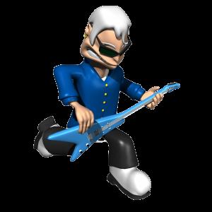 Rock Guitar Cartoon