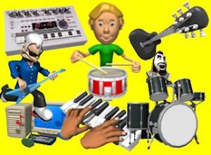 music studio equipment