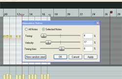 MIDI Humanize Function in Reaper