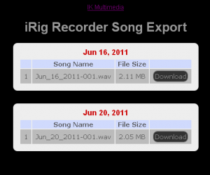 iRig Export Screen Pic