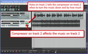 Ducking in audio recording