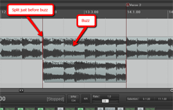 splitting audio file