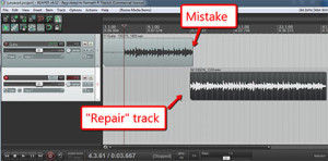 Quickly Fix Audio Recording Mistakes by Overdubbing