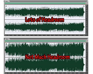 Headroom in audio recording