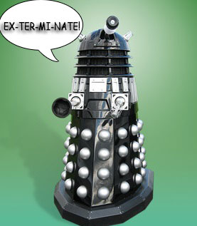 Picture of a Dalek from Doctor Who