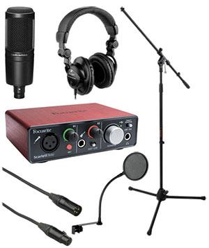home recording studio starter bundle