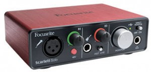 The New Focusrite Scarlett Solo USB 2.0 Audio Interface