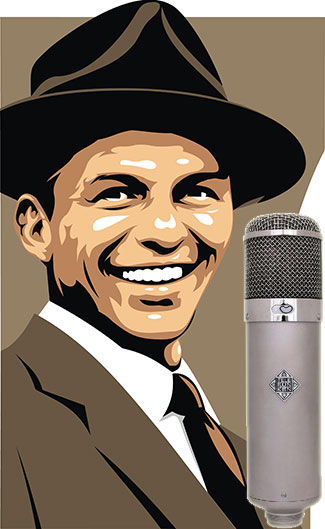 Frank Sinatra With Microphone