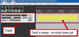 Empty Audio Track