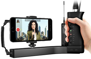 iKlip A/V - Smartphone Broadcast Mount With Built In Mic Pre Amp