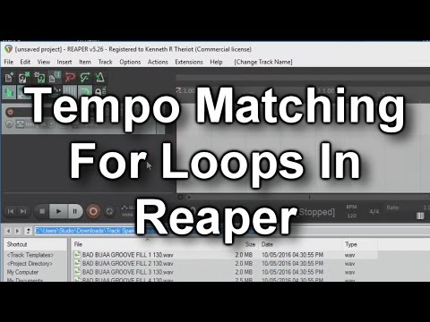 How to Match Loop Tempos In Reaper