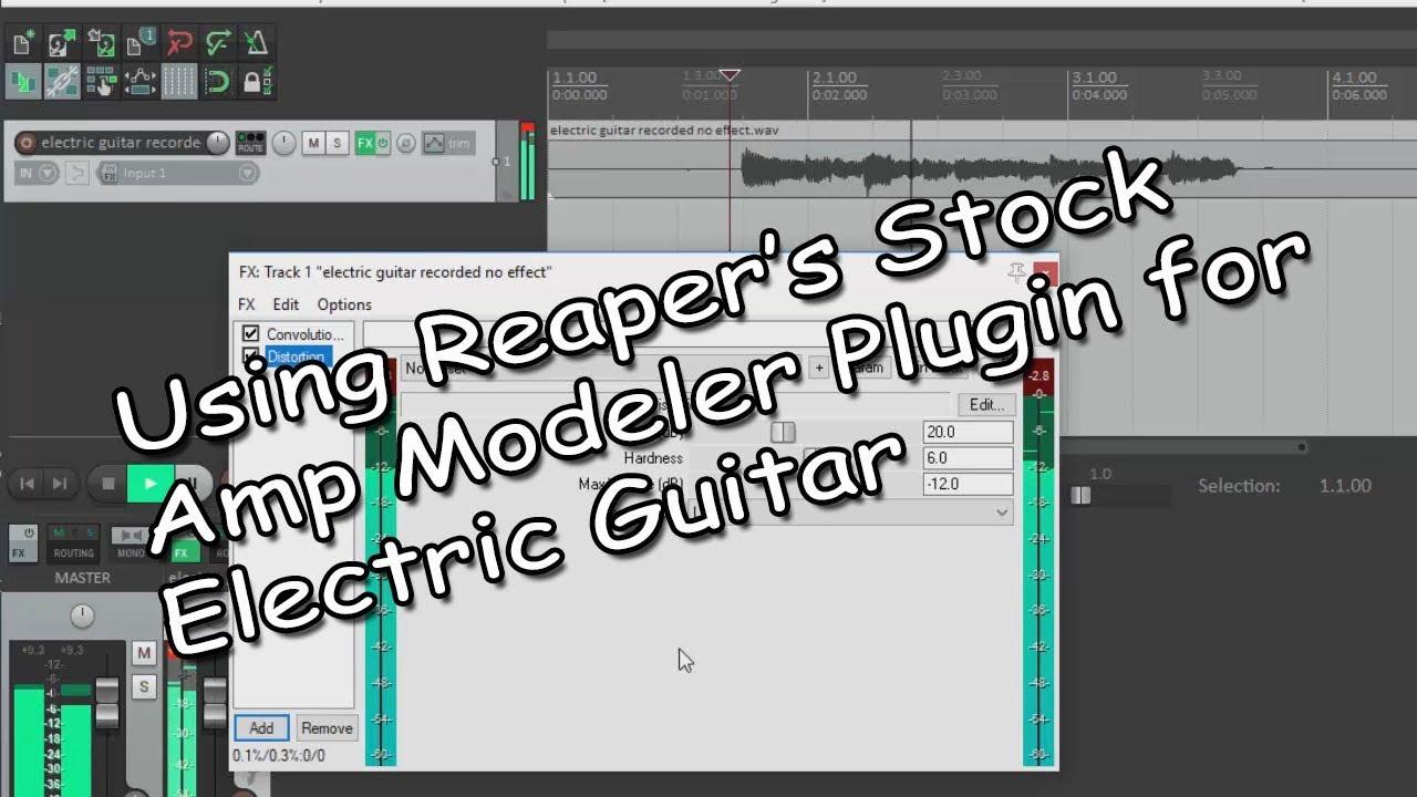 reaper 39 s virtual amp modeler for electric guitar. Black Bedroom Furniture Sets. Home Design Ideas